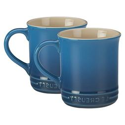 Le Creuset of America Stoneware Set of 2 Mugs, 12-Ounce, Mar