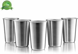 Modern Innovations Stainless Steel Pint Cups, Set of 5, 16 O