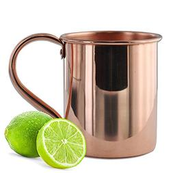 Moscow Mule Copper Mug by Solid Copper - Authentic Moscow Mu