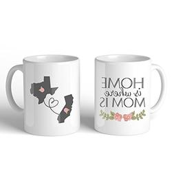 Personalized Long Distance Relationship Ceramic Coffee Mug f