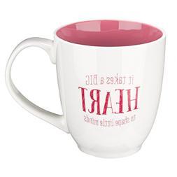 "Pink Blessings to the Teacher ""Big Heart"" Mug - 1 Corinthian"