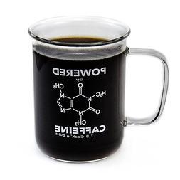 Premium Laboratory Beaker Mug - Powered By Caffeine - Borosi