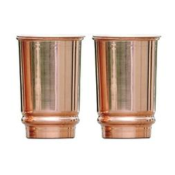 Pure Copper Tumbler Set of 2 | Traveller's Copper Mug for Se