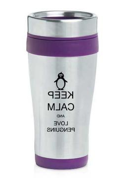 Purple 16oz Insulated Stainless Steel Travel Mug Z447 Keep C