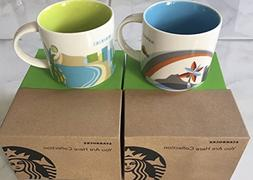 SET OF 2: Hawaii + Waikiki You Are Here 14 Oz. Starbucks Mug