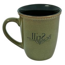 """Sage Green""""Be Still"""" Verse Mug"""