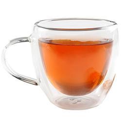Set of 4 Double-Wall Insulated Coffee Mug Tea Cups Thermal E