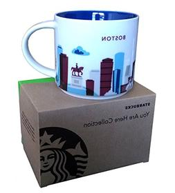 Starbucks Coffee Mug, You Are Here Collection, Boston, 14 Oz