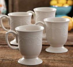 The Pioneer Woman, Cowgirl Lace, 4-Piece Mug Set, 2-Pack