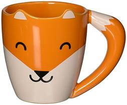 Thumbs Up! Fox Shaped Mug, Orange, Ceramic