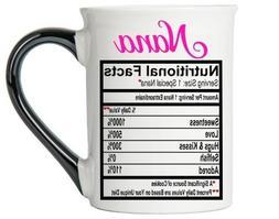 Tumbleweed - Nana Mug - Large 18 Ounce Ceramic Coffee Mug -