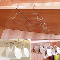 Under Shelf Coffee Cup Mug Holder For Kitchen Hanger Storage