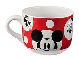 Vandor 89053 Disney Mickey Mouse 20 Ounce Ceramic Soup Mug,