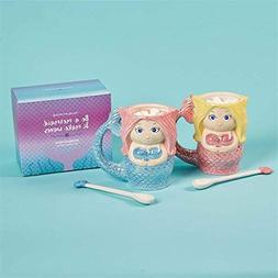 Cupcakes and Cartwheels Be a Mermaid Mug with Spoon in Gift
