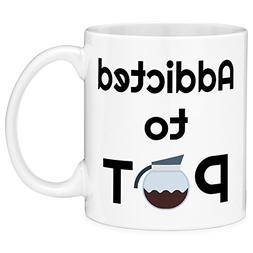 Mugvana 11oz Coffee Mug Addicted to Pot Funny Novelty Cerami