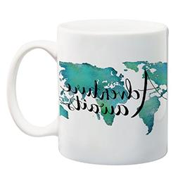 Paintspiration Adventure Awaits 11 oz Mug World Map Mug Trav