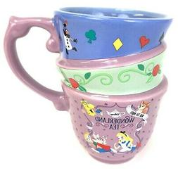 Disney Parks Alice in Wonderland Triple Stacked Cups Teacup