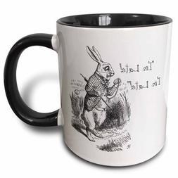 3dRose Alice in Wonderland White Rabbit. Im Late - John Tenn