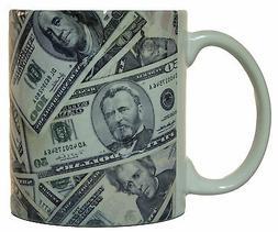 All Around Print Money Collage Coffee Mug Microwave & Dishwa