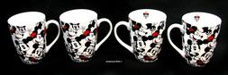 Disney All Over - Minnie Coffee Mugs - Ceramic - Set of 4 -