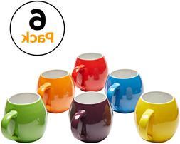 Amethya Premium Ceramic Set of 6, Colorful Meal Stoneware