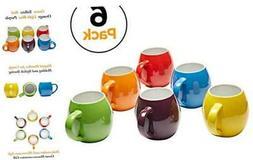 Amethya Premium Ceramic Set of 6, Colorful Meal Stoneware (C