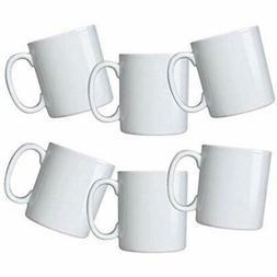 Amuse- Durable Mug Sets Gourmet White Mugs- Set Of 6  Kitche