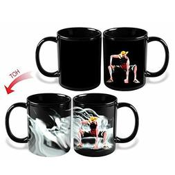 Anime One Piece Luffy Changing Coffee Mug Heat-sensitive Rea