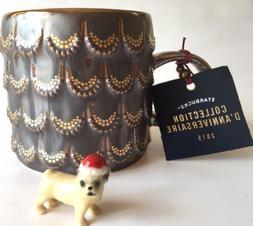 Anniversary 2015 Starbucks 10 oz Coffee Mug Mermaid 3D Gold