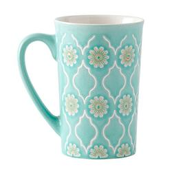 Pfaltzgraff Antigua Latte Large Coffee Mug 16 Ounce Mint Gre
