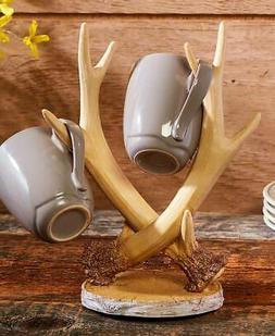Antler Kitchen Coffee Cup Mug Rack Holder Display Tree Cabin