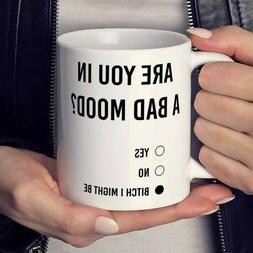 Are You in a Bad Mood Mug | Metallic Coffee Mug | Funny Coff