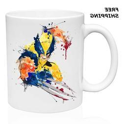 Art Wolverine, X Men, Coffee-Tea  Mug 11oz