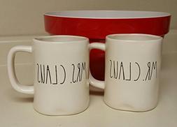 Rae Dunn Artisan Collection MR.Claus & Mrs Claus 2 Mug Set
