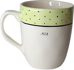 Rae Dunn Artisan Collection By Magenta Mug SIP-Lime Green Wi