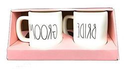 Rae Dunn Artisan Collection Set of 2 Mugs Bride and Groom We