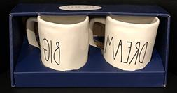 Rae Dunn Artisan Collection By Magenta Set Of 2 Pottery Mugs