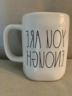 Rae Dunn Artisan Collection YOU ARE ENOUGH Large Letter Mug
