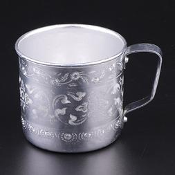 Asian <font><b>Thailand</b></font> Carved Tin Cup <font><b>M