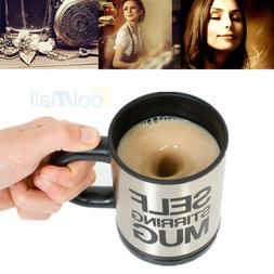 Assorted Auto Mixing Tea Cup Stainless Plain Lazy Self Stirr