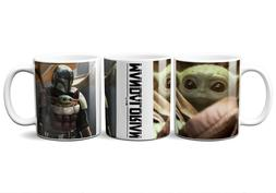 BABY YODA AND THE MANDALORIAN 11oz CERAMIC COFFEE MUG DISNEY
