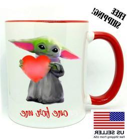 Baby Yoda, one for me, Birthday Gift, Valentine's Day, Red M