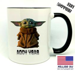 Baby Yoda, Star Wars, Birthday, Christmas Gift, Black Mug 11