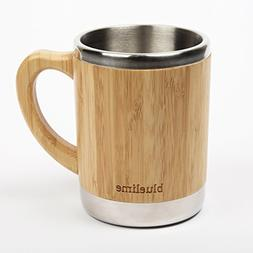 Bluelime Bamboo Coffee Mug – Stainless Steel Wooden Coffee
