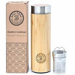Original Bamboo Tumbler with Tea Infuser & Strainer by LeafL
