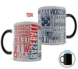 Sports Baseball Words Personalized Morphing Mugs Heat-Sensit