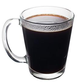 Basic Kitchen Clear Glass Coffee Mug 10 oz, Set of 6