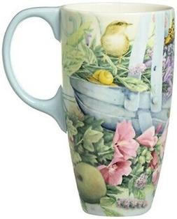 Lang Basket Of Flowers Latte Mug by Lisa Kaus, Multicolored