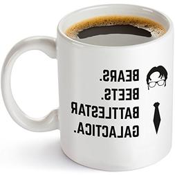 Bears Beets Battlestar Galactica Funny 11 oz Coffee Mug - In