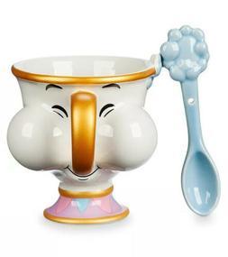 Disney Beauty And The Beast CHIP Mug & Spoon Set Coffee Tea